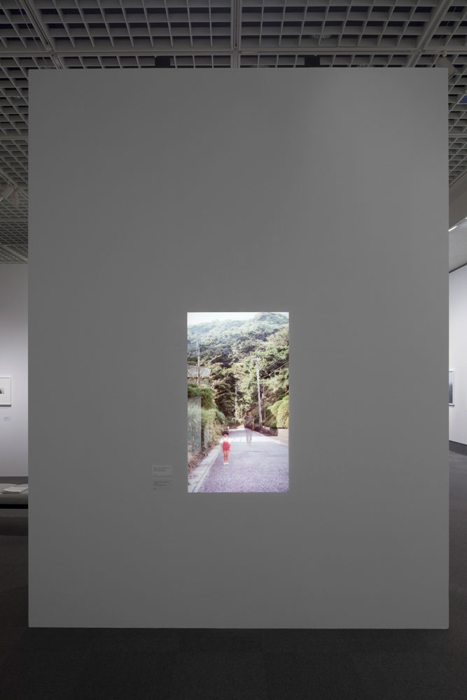 Chino Otsuka, installation view: <em>Memoriography 2, 1978 and 2009, Kitakamakura, Japan, Tokyo</em>, sound, 6 min, Metropolitan Museum of Photography, 2010. Photo by Tokyo Metropolitan Museum of Photography.