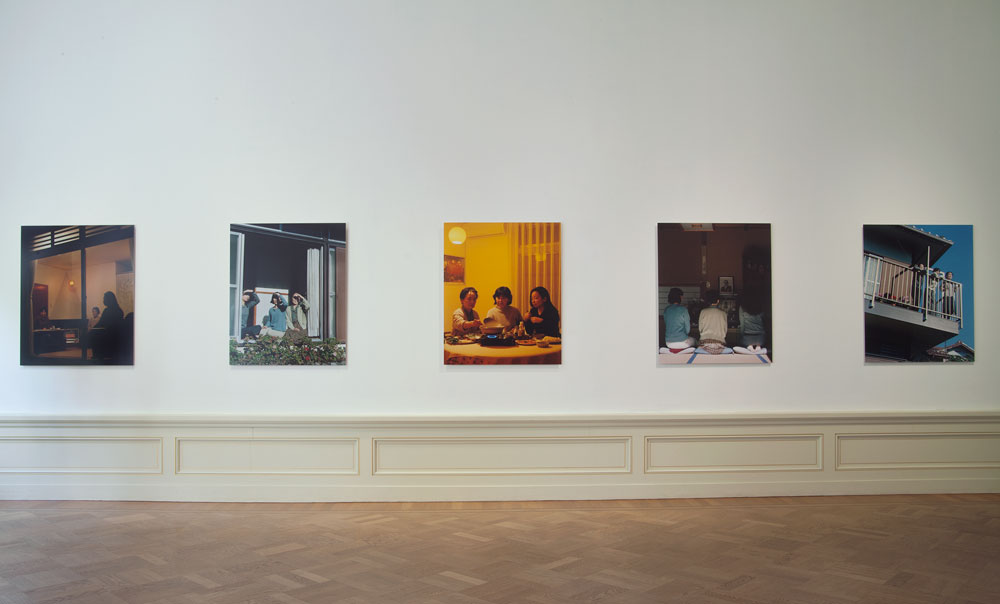 Chino Otsuka, installation view: <em>Generations</em>, Huis Marseille Museum for Photography, Amsterdam, 2000, chromogenic print, 762 mm x 1016 mm. Photo by the artist.