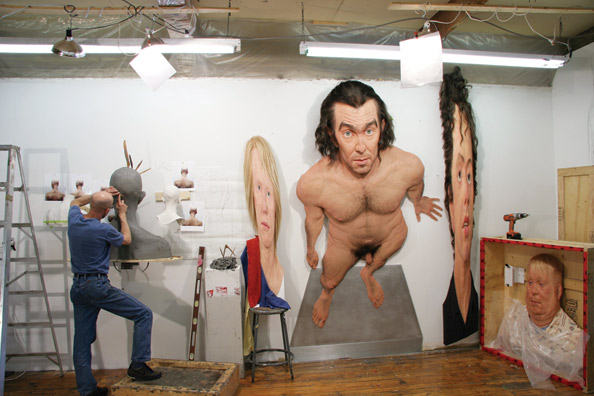 Evan Penny in his studio