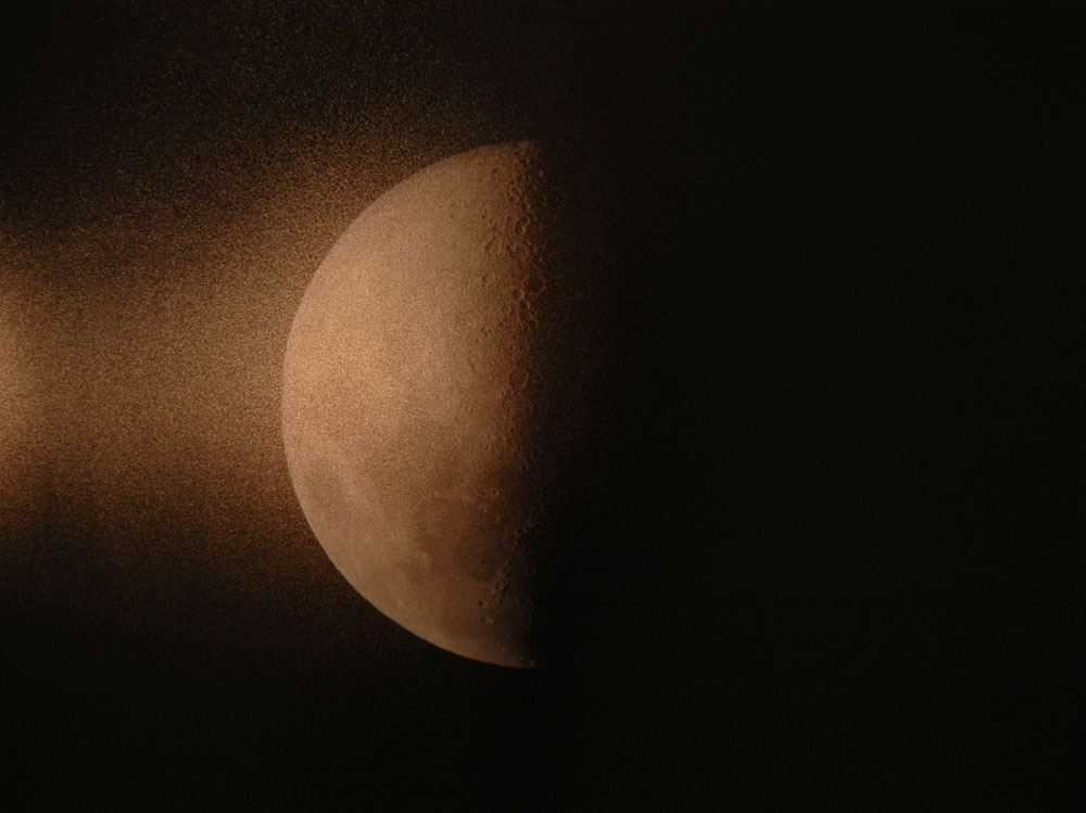 Erin Shirreff, <em>Moon</em>, video still, 2010, color video, silent, 32 minute loop