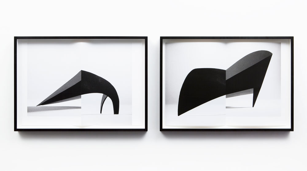 Erin Shirreff, <em>Signatures</em>, 2011, two archival pigment prints, each 59.7 cm x 89 cm, with fold.