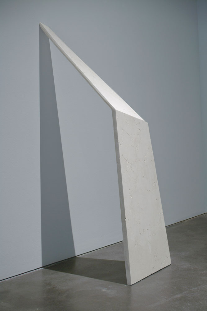 Erin Shirreff, <em>Untitled (Shadow)</em>, 2010, ash, hydrocal, armature, 152.4 cm x 48.3 cm x 68.6 cm, Museum of Contemporary Art, Denver, Colorado. Photo by Ron Pollard.