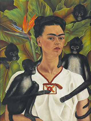 Frida Kahlo (1907-1954), Autorretrato con monos,1943 (Self-Portrait with Monkeys, 1943)