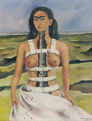 Frida Kahlo (1907-1954), La columna rota, 1944, (The Broken Column, 1944)