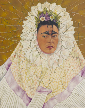 Frida Kahlo, (Self-Portrait as a Tehuana (Diego in My Thoughts)