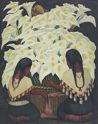 Diego Rivera (1886-1957), Vendedora de alcatraces, 1943 (Calla Lily Vendor, 1943)