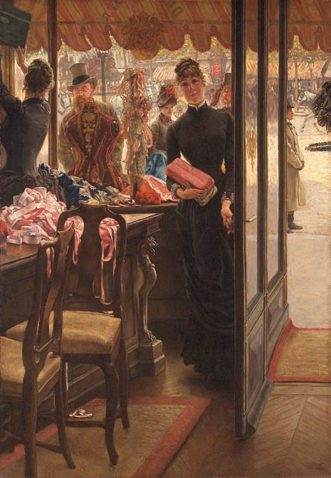 The Shop Girl by Tissot