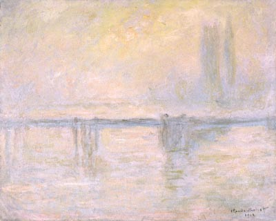 Charing Cross Bridge, brouillard