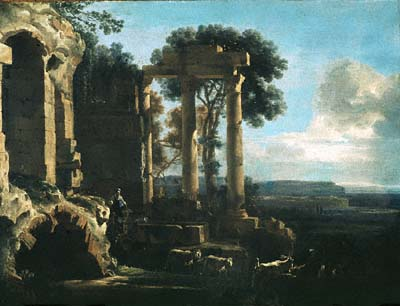 Asselijn, Jan. Landscape with Ancient Ruins