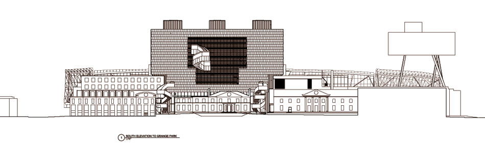 Art Building Drawings South Elevation to Grange Park