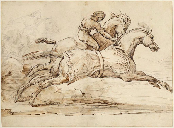 Géricault, Théodore. Scene from the Race of the Barberi Horses.