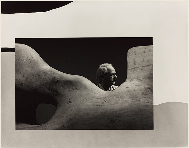 Arnold Newman. Henry Moore, Much Hadham, England