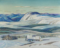 Franklin Carmichael (Canadian, 1890 – 1945), <em>Mattawa</em>, 1935, graphite, watercolour and gouache on paper.  Gift of John R. Casey, Q.C., Toronto, 1996.