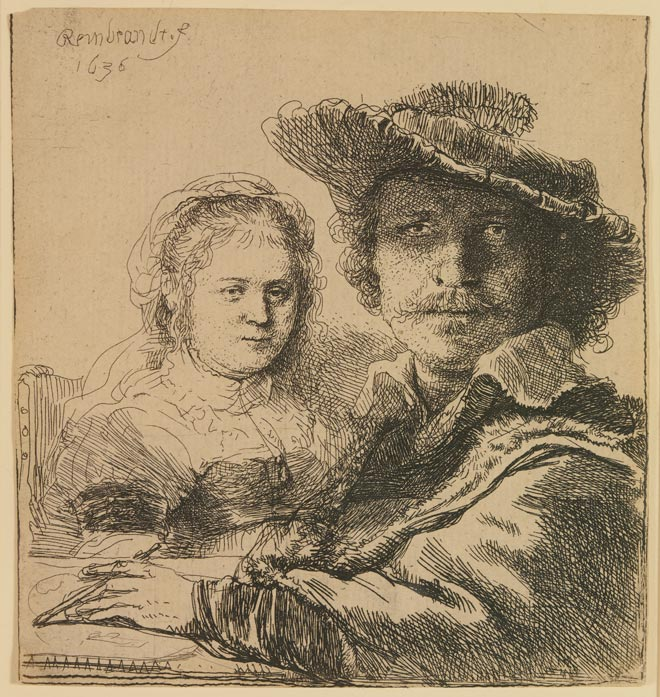 Rembrandt Harmensz van Rijn, Self Portrait with Saskia, 1636