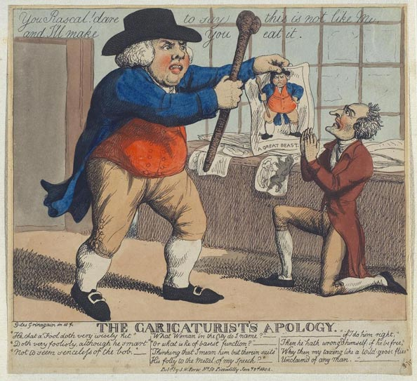 Samuel Howitt. The Caricaturist's Apology, 1804