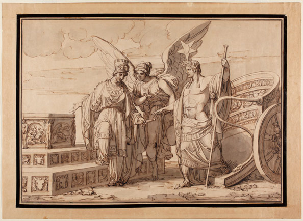 Demin, Giovanni. An Allegory of Napoleon Alighting from a Chariot and Being Received by the City of Turin.