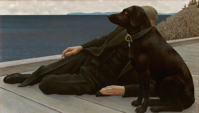 Alex Colville, Dog and Priest, 1978