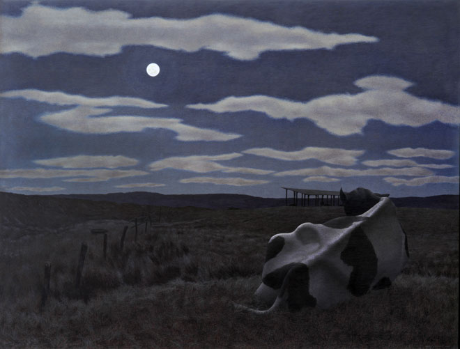 Alex Colville, Moon and Cow, 1963
