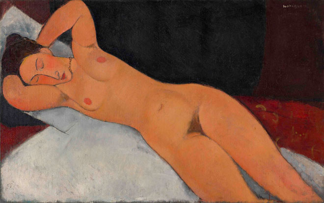 Amedeo Modigliani, Nude (Nu), 1917