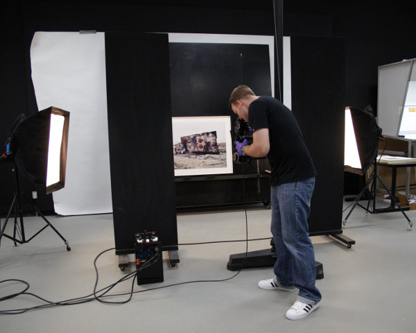 person in photography studio