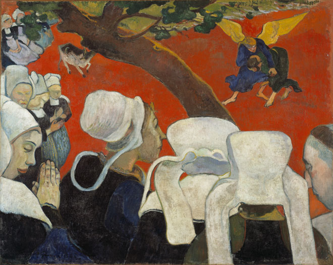 Paul Gauguin, Vision after the Sermon (Jacob Wrestling with the Angel), 1888