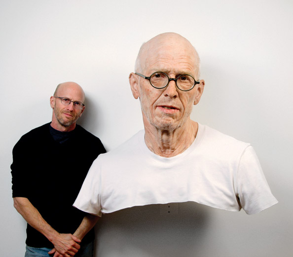 Evan Penny and Old Self: Portrait of the Artist as He Will (Not) Be #1, Variation of 4, 2010