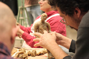 person sculpturing